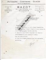 18 - Cher - BOURGES - Facture BAZOT - Pâtisserie, Confiserie, Glaces – 1951 - REF 250A - 1900 – 1949