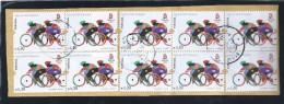 Block Of Ten Cycling Stamps. 29th Olympiad.Block Zehn Stempel Radfahren. 29ª Olympiade. - Ciclismo