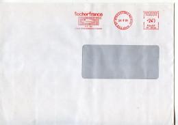 EMA Animaux,poisson,sardine,alimentation Conserverie Fischerfrance,67 Strasbourg,lettre Strasbourg Meinau 26.9.1984 - Fishes