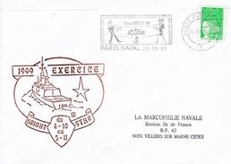 FREGATE LA FAYETTE EXERCICE BRIGHT STAR PARIS NAVAL ADOSM 23/10/99 - Marcophilie (Lettres)