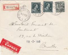 N° 768 + Col Ouvert / Lettre Recommandé  En Expres - 1936-1957 Col Ouvert