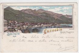 Un Saluto Da Cannobio - Litho - 1899 - Ed.Guggenheim       (PA-6-110507) - Italie