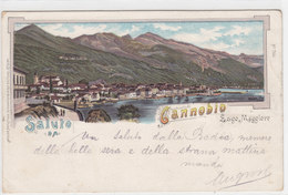 Un Saluto Da Cannobio - Litho - 1899 - Ed.Guggenheim       (PA-6-110507) - Altre Città