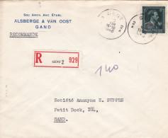 N° 724 T : Lettre RECOMMANDE De GENT 2 - 1946 -10%
