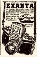 Original-Werbung/ Anzeige 1938 - IHAGEE EXAKTA KAMERA - Ca. 45 X 65  Mm - Publicités