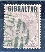 Gibilterra Victoria 1886 N. 3 P. 2 Viola Bruno Fil. 1 Usato Cat. € 110 - Gibilterra