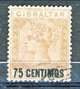 Gibilterra Victoria 1887 N. 21 C. 50 Violetto Fil. 1 Usato Cat. € 110 - Gibilterra