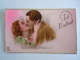 Koppels Couple Soldat Tes Baisers D'ou Te Vient Le Pouvoir ...Baiser Kiss Edit P.C. Paris 5049/2 Carte Rose - Couples