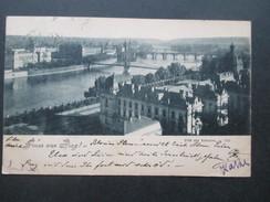 AK Österreich / Tschechien 1900 Gruss Aus Prag. Blick Vom Belvedere. Christhofen Weitergeleitet Nach Wien - Gruss Aus.../ Grüsse Aus...