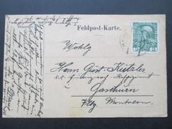 AK Österreich 1915 Feldpostkarte Frankiert!! Inhalt?? - 1850-1918 Imperium