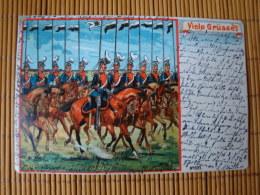 Litho, Viele Grüsse...., Gelaufen !! - Weltkrieg 1914-18