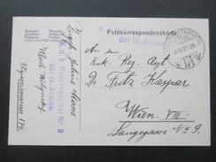 AK Österreich / Ungarn 1916 Feldpostkarte Hadtap Postahivatal 174. K.u.K. Reservespital Nr. 9 Der IV. Armee - 1850-1918 Imperium