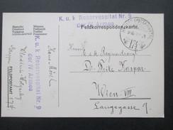 AK Österreich / Ungarn 1916 Feldpostkarte Hadtap Postahivatal 174. K.u.K. Reservespital Nr. 9 Der IV. Armee - Briefe U. Dokumente