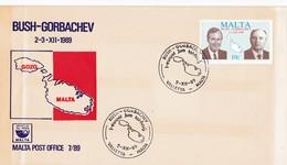 Malta, Bush - Gorbachev Malta Post Office 7/89,.2.-3.XII 1989 - Malte