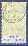 Gibilterra Edward VII 1903 N. 43 S. 2 Verde Smeraldo E Oltremare Fil. 1 Usato Cat. € 180 - Gibilterra