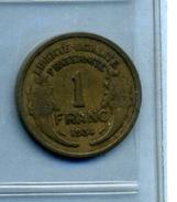 1934 1 Franc TYPE MORLON Bronze-al - Frankrijk