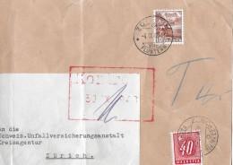 NACHPORTOMARKEN → SBK60 Ziffer Und Kreuz 1938 Auf Brief 1948 - Portomarken