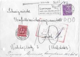 NACHPORTOMARKEN → SBK55 Ziffer Und Kreuz 1938 Auf Brief 1946 - Portomarken