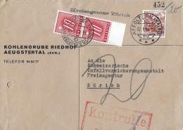 NACHPORTOMARKEN → 2x SBK55 Ziffer Und Kreuz 1938 Auf Brief 1946 - Portomarken