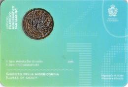 *SAN MARINO - 1° 5 Euro Bimetallico 2016: GIUBILEO DELLA MISERICORDIA - San Marino