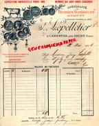 14 - CARENTAN PRES ISIGNY - BELLE FACTURE BEURRES - BEURRE -LAITERIE- J. LEPELLETIER-  - VACHE- 1904 - France
