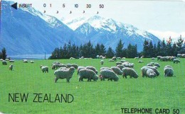 Télécarte JAPON * NOUVELLE ZÉLANDE  RELIEE (101) Telefonkarte * Phonecard Japan * NEW ZEALAND COUNTRY RELATED - Paisajes