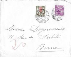 NACHPORTOMARKEN → SBK45 Kinder Mit Wertschild 1924-26 Auf Brief 1936 - Portomarken