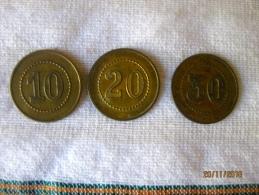 Italy Set Of 3 Token (10 - 20 - 30 Lire?) Italian Company - Professionnels/De Société