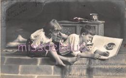 PORTRAIT - Garçon Et Fille Avec Chat - Boy Girl Cat - 1912 - 2 Scans - Portraits