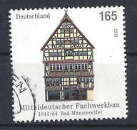 GERMANY 2012 Architecture – Half-Timbered Houses; 1644/64 Bad Münstereifel Postally Used MICHEL # 2931 - BRD