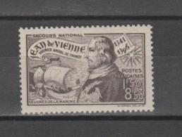 FRANCE / 1942 / Y&T N° 544 ** : Jean De Vienne X 1 - Unused Stamps
