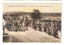 CPA 30 MILITARIA Camp Des Garrigues Massillan Le 38 E D'Artillerie Coloniale En Manoeuvres - Manovre