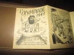 Flyer Brochure Militaria Deuxieme Guerre Mondiale WWII Propagande Allemande Olympiade 1941 - Historical Documents