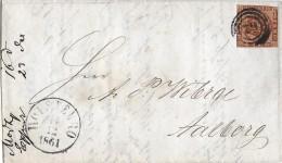 DÄNEMARK → Schöner Brief Mit 3 Ring Stempel Datiert 14.12.1861 Nach  Aalborg - 1851-63 (Frederik VII)