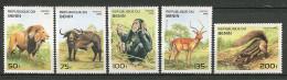 Benin ** N° 708BA à 708BF - Félins : Lynx, Puma, Panthère, Lion - - Benin – Dahomey (1960-...)