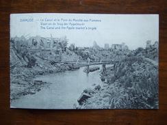 BELGIQUE / DIXMUDE / LE CANAL ET LE PONT DU MARCHE AUX POMMES / JOLIE CARTE /1919 - Guerre 1914-18