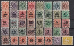 Württemberg Lot Aus Minr.150-188 Postfrisch, Mit Falz - Briefmarken