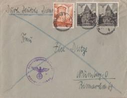 GG Brief Mif Minr.41, 2x 44 Warschau Gel. Nach Nürnberg - Besetzungen 1938-45