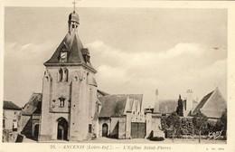 ANCENIS, L'Eglise Saint-Pierre, 2 Scans - Ancenis
