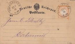 DR Karte EF Minr.18 Oberhausen 23.7.74 Gel. Nach Dortmund - Deutschland