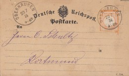 DR Karte EF Minr.18 Oberhausen 23.7.74 Gel. Nach Dortmund - Briefe U. Dokumente