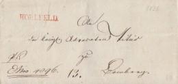 Brief Mit Seltenem Rotem Stempel L1 Hollfeld Von 1826 - Deutschland