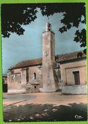 AIGUES-VIVES - Le Temple Et L'Horloge Photo Véritable Colorisée Circulé 1969 - Aigues-Vives