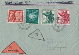 DR NN-Brief Mif Minr.863,896,897,898 Stuttgart 15.7.44 - Deutschland