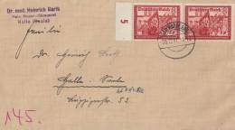 DR Brief Mef Minr.2x 774 Bad Rappenau 30.12.41 Gel. Nach Halle - Deutschland
