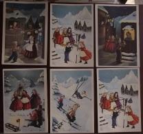 Natale, Buon Anno, Serie Di 6 Cartoline (43) - Santa Claus