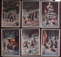 Natale, Buon Anno, Serie Di 6 Cartoline (44) - Santa Claus