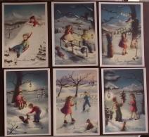 Natale, Buon  Natale, Serie Di 6 Cartoline (45) - Santa Claus