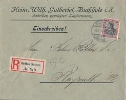 DR R-Brief EF Minr.90I Buchholz 6.9.11 Gel. Nach Bayreuth - Ohne Zuordnung