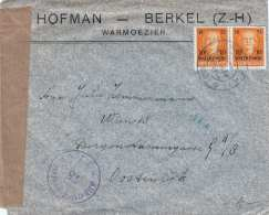 NEDERLAND 1953 Censor-mail Stamps With Overprint Watersnood - 1949-1980 (Juliana)